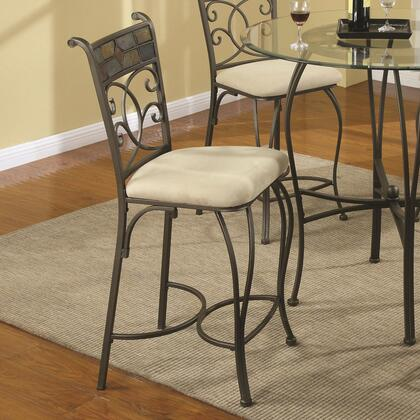 Coaster 120839 120830 Series Traditional Fabric Metal Frame Dining Room Chair