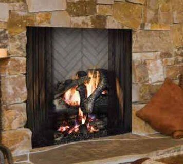 "Majestic Biltmore Series SB6 36"" Radiant Wood Burning Fireplace with Outside Air Kit, Dual Gas Knockouts, and Full Refractory Lining in"
