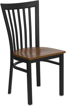 "Flash Furniture HERCULES Series XU-DG6Q4BSCH-XXW-GG 17.25"" School House Back Metal Restaurant Chair with Wood Seat, Commercial Design, 18 Gauge Steel Frame, and Plastic Floor Glides"