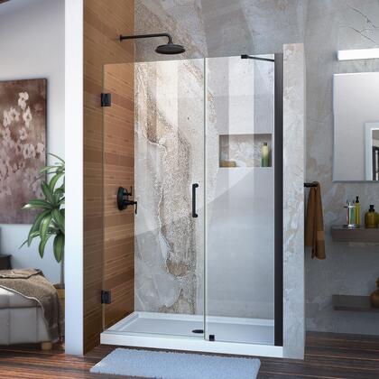 DreamLine Unidoor Shower Door with Base 12 28D 18P support arm 09 72 WM 11 16