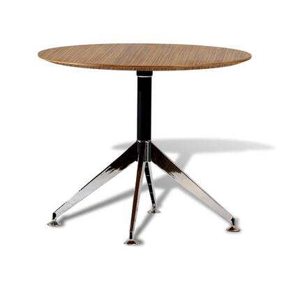 """Unique Furniture 400 Collection 36"""" Meeting Table with Round Shape, Commercial Grade, Non Scratch Surface, Medium-Density Fiberboard (MDF) and Lacquered Materials in"""