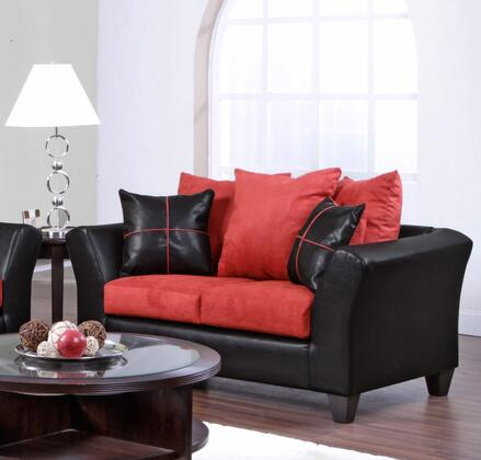 Chelsea Home Furniture 294170LVC Cynthia Series Fabric Stationary with Wood Frame Loveseat