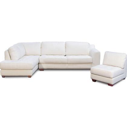 Diamond Sofa ZENLF3PCSECTE Zen Series Stationary Leather Sofa