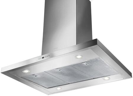 Faber BELAISxSS600B Island Range Hood with 600 CFM, Electronic Controls, Pro Motor, 24 Hour Anti-Pollution Mode and Dishwasher Safe Stainless Steel Filters, in Stainless Steel