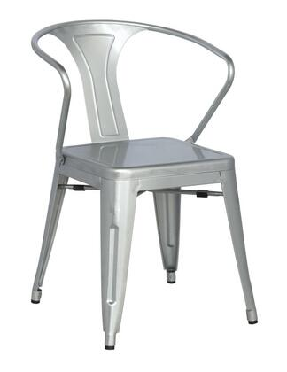 Chintaly 8023SCSLV 8023 Series Residential Not Upholstered Bar Stool