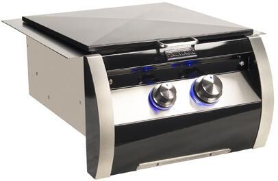 """FireMagic 19HB2x0 19"""" Echelon Black Diamond Gas Built-In Power Burner in Black"""