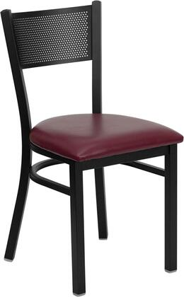 Flash Furniture XUDG60115GRDBURVGG Hercules Series Contemporary Vinyl Metal Frame Dining Room Chair