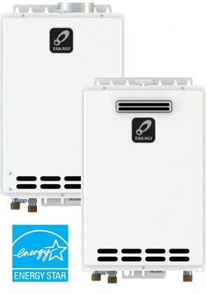 """Takagi T-KJr2-OS 14"""" Tankless Water Heater With Max 140,000 BTU/h, 15-150 PSI, Overheat Cutoff Fuse, Internal Freeze-Protection System, Manual Reset High Limit Switch, In White"""