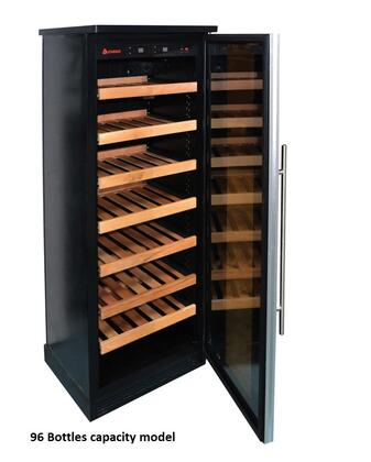 Eurodib WC001BLSS Wine Cooler by Chigo with Up to X Bottles Capacity Silver Frame Glass Door Cabinet and Multi Temperature.