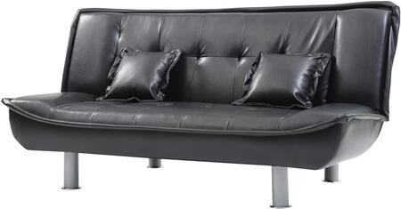 "Glory Furniture G13X-S 74"" Convertible Sofa Bed with 2 Matching Pillows Included, Tufted Cushions and Cylinder Legs in"
