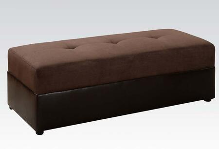 Acme Furniture 15777 Lakeland Series Contemporary Microfiber Ottoman