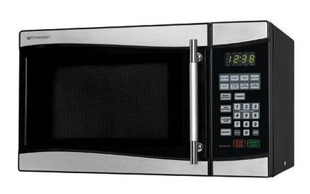 Emerson MW8889SB Countertop Microwave, in Stainless Steel