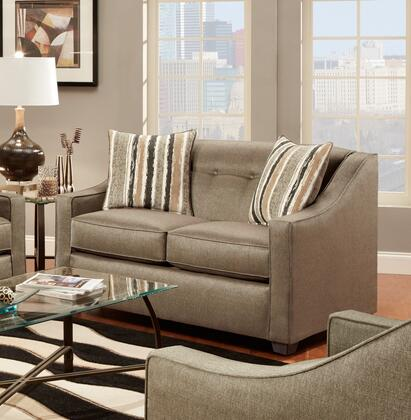 Chelsea Home Furniture 475440LSP Brittany Series Fabric Stationary with Wood Frame Loveseat