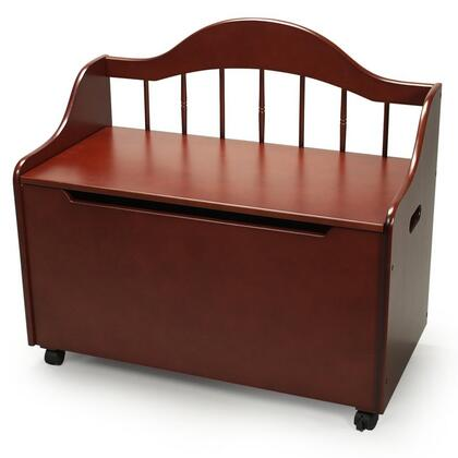 Gift Mark 4025 X  Multi-functional Solid Wood Deacon Bench Styled Toy and Storage Chest on Casters with Spindle Back in