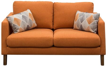 Diamond Sofa KEPPELLOHS Keppel Series Fabric Stationary with Wood Frame Loveseat