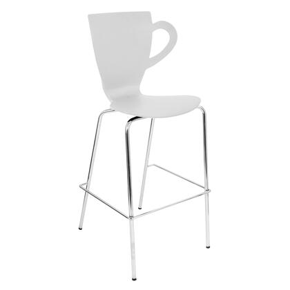 LumiSource BSZSCFCHXX3 Cafe Chai Stackable Barstool - Set Of 3