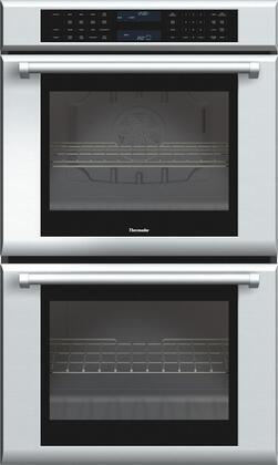 """Thermador MED302J 30"""" Star-K Certified Masterpiece Electric Built-In Double Oven With 9.4 cu. ft. Total Capacity, Two Hour Rapid Self Clean, 3 Telescopic Racks, Halogen Lights, And SoftClose Hinges: Stainless Steel"""
