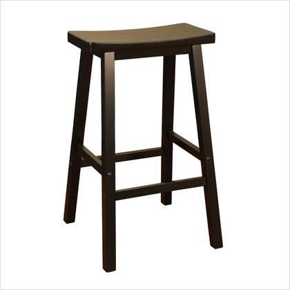 American Heritage 124802BLK Wood Saddle Series Residential Not Upholstered Bar Stool