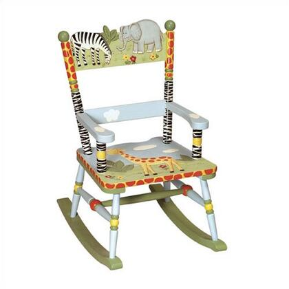 Guidecraft G83201 Safari Series Armless  Wood Frame Not Upholstered Rocking Chair