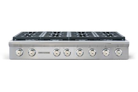 "American Range Legend Series ARSCT-488- 48"" Sealed Burner Gas Rangetop With 8 Sealed Burners, Fail-Safe System, Analog Controls, Electronic Ignition, Pro-Style, Slide-In, In Stainless Steel"