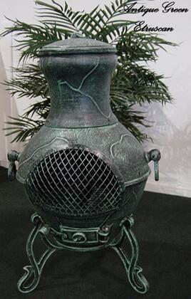 The Blue Rooster Company ALCH028 Etruscan Chiminea Outdoor Fireplace