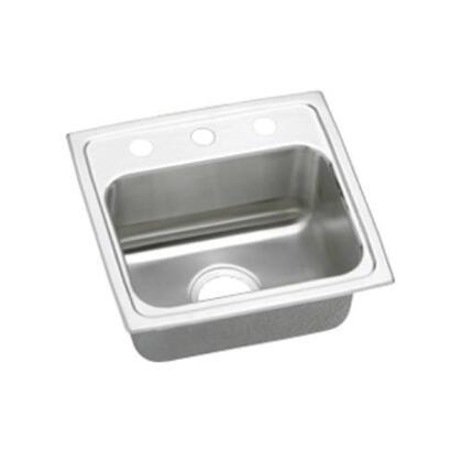 """Elkay LRAD1716600 17"""" Top Mount Self-Rim Single Bowl  ADA Compliant 18-Gauge Stainless Steel Sink"""