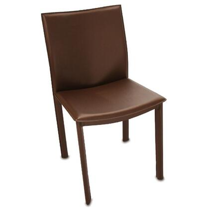 Tag 290024 Contemporary Leather Metal Frame Dining Room Chair