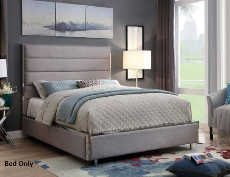 Furniture of America CM7262GYCKBED Gillian Series  California King Size Bed