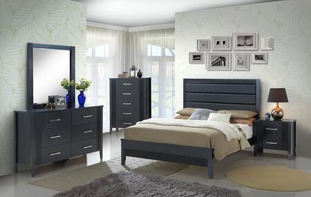 Glory Furniture G5350AKB Portland Series  King Size Panel Bed