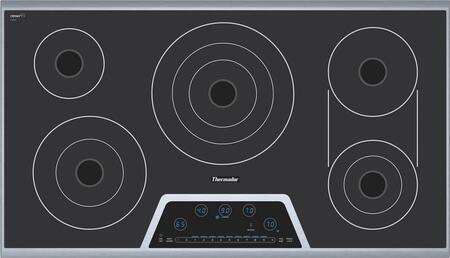 Thermador CET366FS Masterpiece Deluxe Series Electric Cooktop, in Stainless Steel