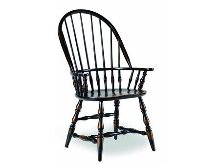 Hooker Furniture 3005-75 Sanctuary Series Dining Room Windsor Chair (Sold in 2 Chairs per Order/Priced Individually), Ebony