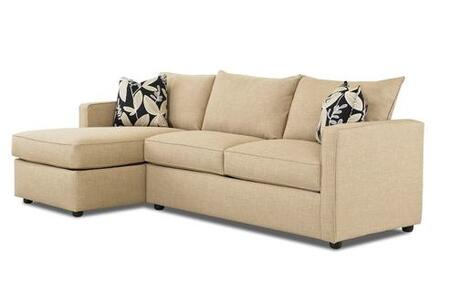 Klaussner BOWANSECT  Sofa and Chaise Microfiber Sofa