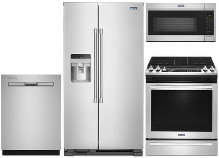 Maytag 1009974 4 Piece Stainless Steel Kitchen Appliances Package