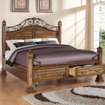 Legends Furniture ZBCL700 Barclay Storage Bed with 2 Drawers, Designed in U.S.A., Dado Construction, Selected Hardwood and Veneers in Rustic Acacia