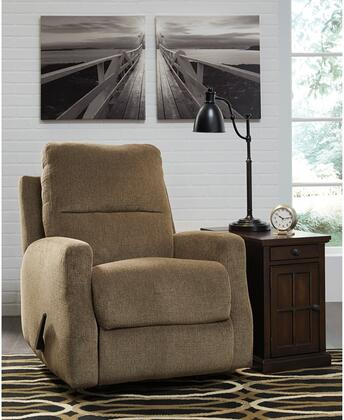 """Flash Furniture Signature Design by Ashley Fambro 32"""" Rocker Recliner with Padded Arms, Plush Pillow Back, Rocker Feature, Lever Recliner and Chenille Upholstery in"""