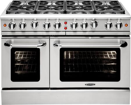 "Capital MCR488N 48"" PRECISION Series Gas Freestanding Range with Sealed Burner Cooktop, 4.6 cu. ft. Primary Oven Capacity, in Stainless Steel"