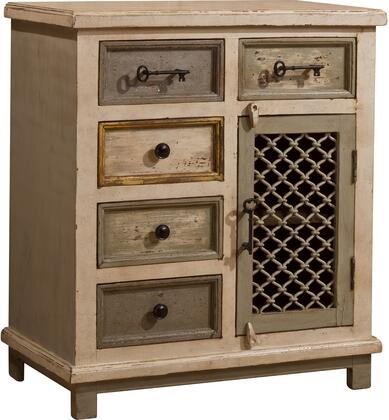 LaRose 5 Drawer 1 Door Cabinet with Chicken Wire 5732 886 (1)