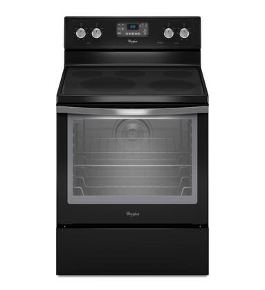 Whirlpool WFE540H0AE  Electric Freestanding Range with Smoothtop Cooktop, 6.2 cu. ft. Primary Oven Capacity, Storage in Black Ice