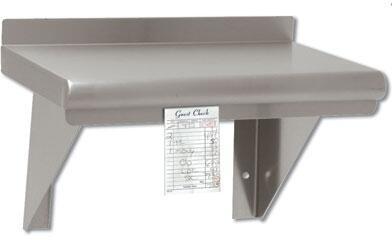 Shelf with check minder