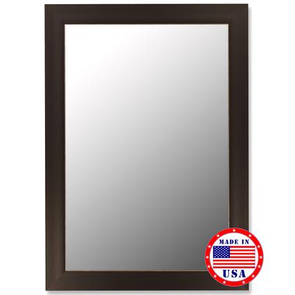 Hitchcock Butterfield 21050X Cameo Mirror in Espresso Finish with Silver Accent