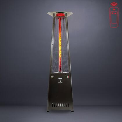 Lava Heat LHI12 Liquid Propane Triangular 8 ft. Tall Commercial Flame Patio Heater with Remote, 66,000 BTU Power Rating, 6 Foot Heat Radius and Safety Tilt Switch