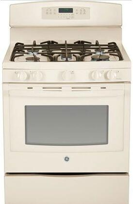 "GE JGB750 30"" Freestanding Gas Range With 5 Sealed Burners, 17,000 BTU PowerBoil, 5.6 cu. ft. Convection Oven, Self-Clean, Storage Drawer, Self-Clean With Steam Clean Option, In"
