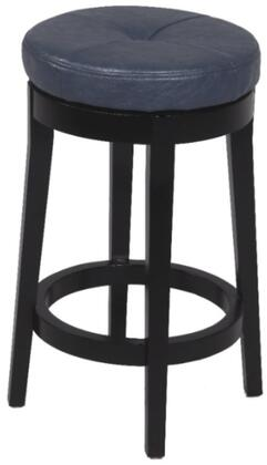 Chintaly 0299CSBLU Residential Bonded Leather Upholstered Bar Stool