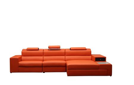 VIG Furniture VGEV5022BORG Divani Casa Polaris Mini Series Stationary Bonded Leather Sofa