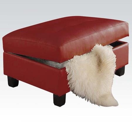 Acme Furniture 51187 Kiva Series Bonded Leather Ottoman
