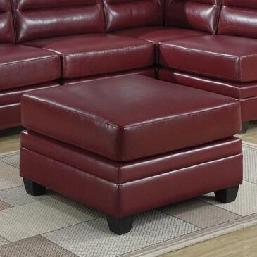 Monarch I8300RD Transitional Bonded Leather Ottoman