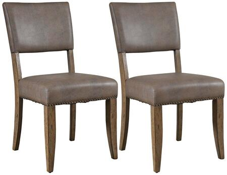 Hillsdale Furniture 4670804 Charleston Series Traditional Faux Leather Wood Frame Dining Room Chair