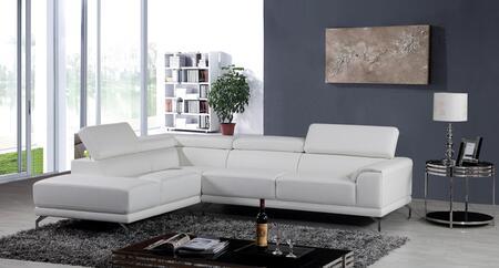 VIG Furniture VGKNK8214TOPWHT Divani Casa Wisteria Series Stationary Sofa