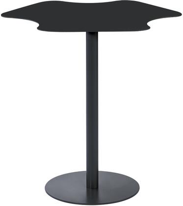 """Diamond Sofa Peta PETAET 20"""" Powder Coated Metal Accent Table with Amoeba Shape Top, Round Base and Pillar Support in"""
