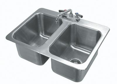 2 Compartment Drop In Sink